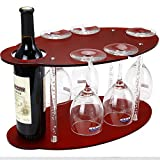 kitchen bar cabinet ideas Wine Glass Holder, Tabletop Wine Racks free-standing, Wine Glass Rack Acrylic- Small Wine Racks Counter-top Display 1 Wine bottle+5 Glass(Modern Idea for Parties/Bar)