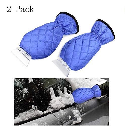 raper Mitts Waterproof Snow Scraper Glove,Snow Ice Scraper for Car Truck-Blue ()