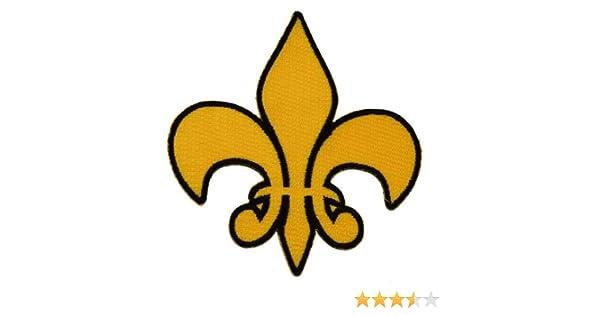 Flor de Lis Fleur de Lis francés Saints New Orleans Hierro O coser ...