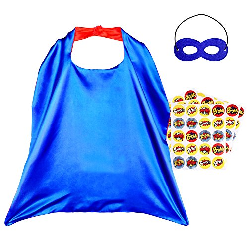 Diy His And Hers Costumes (Superhero Capes, Reversible Costume with Mask & Superhero Stickers for Kids)