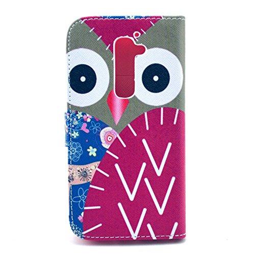 Bayke Brand / LG Optimus G2 SmartPhone Pu Leather Wallet with Credit Card Slots LG G2 (Cute Owl Print 02)
