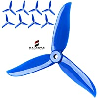 DALPROP T5045C Blue, Cyclone Series Extreme Performance FPV Racing Propellers, The Cyclone Series has Incresed Performance Through Advanced Tip Design. 4XCW and 4XCCW, 8 Propellers.
