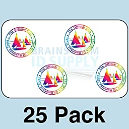 25 Mark of Business Hologram Self Stick ID Overlays (with UV Eagle)