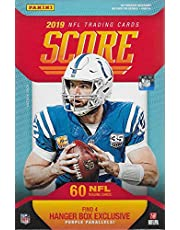 2019 Score Football Factory Sealed Hanger Box with 60 Cards Including 4 Exclusive Purple Parallels and 12 Rookie Cards in Each Box and Chance for Autographs of Kyler Murray and Daniel Jones Plus