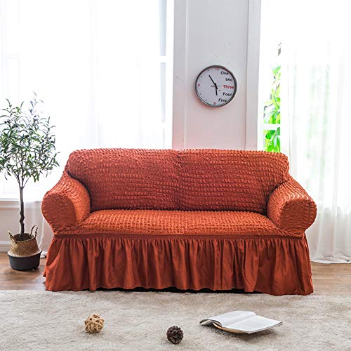 High Elasticity Sofa slipcover,Anti-Slip Furniture Protector for pet Dog Solid Cover Sofa Throw pad Couch Cover All Season for u-Shaped Sofa-1 2 3 4 seat-A 3 Seater(67-90inch)