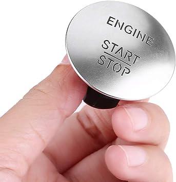 Auto Zündschalter Keyless Start Stop Push Button Motor Zündschalter Kompatibel Mit Mercedes 2215450714 Silber Auto