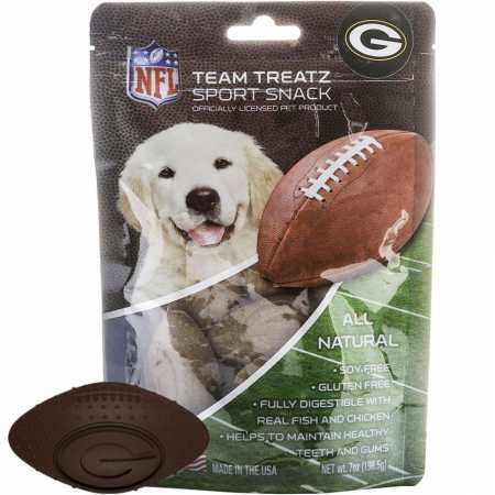 Nfl Green Bay Packers Dog Food Snack Treat Bone-Free. Dog Training Cookies Tasty Biscuits For Dog Rewards. Provides Healthy Dog Teeth & Gum, Soy-Free, Gluten-Free. Review