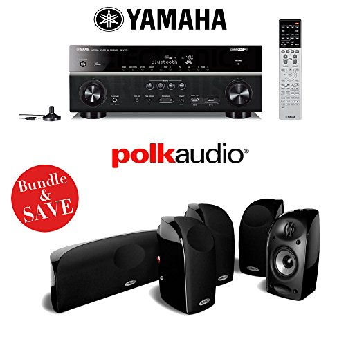 Yamaha RX-V779BL 7.2-Channel Wi-Fi Network AV Home Theater Receiver + A Polk Audio TL250 5.0 Home Theater Speaker System