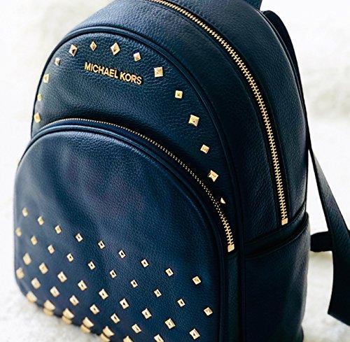550410acf4d5 Michael Kors Abbey Leather Medium Studded Backpack Navy Blue  Amazon.co.uk   Clothing