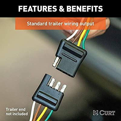 CURT 55384 Replacement Vehicle-Side Custom USCAR 4-Pin Trailer Wiring Harness: Automotive