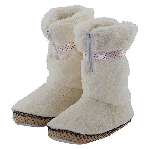 brandsseller - Zapatillas de estar por casa de Material Sintético para mujer blanco