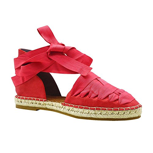 Sneaker Da Espadrillas In Tela Casual Con Cinturino In Gros Grain Womens Angelina