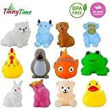 Tinny Time Chu Chu Bath Toys for Baby Non-Toxic Toddler Set Multi Colour (12pcs Bath Toys)