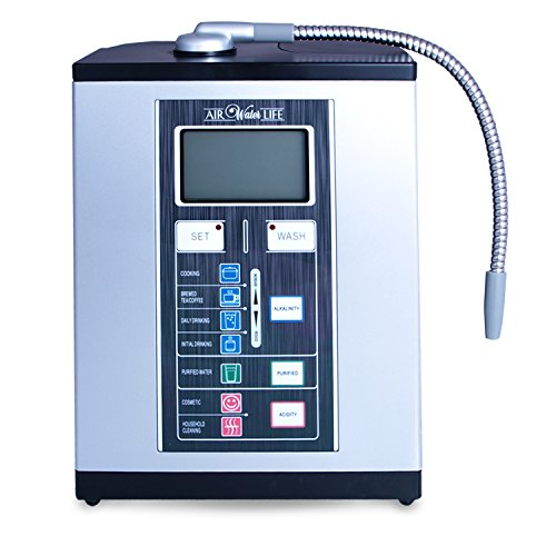 Air Water Life Aqua Ionizer Deluxe 9.0 | Best Home Alkaline Water Filtration System | Produces pH 3.0-11.5 Alkaline Water | Up to -860mV ORP | 4000 Liters Per Filter | 7 Water Settings by Air Water Life