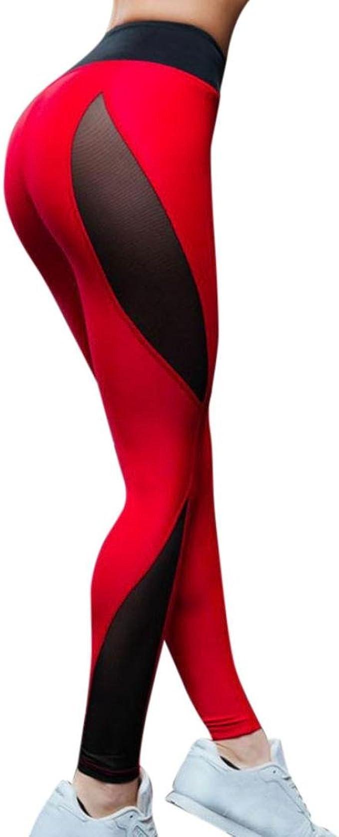 Women/'s Yoga Pants Fitness Leggings Running Gym Exercise Sports Push Trousers LC