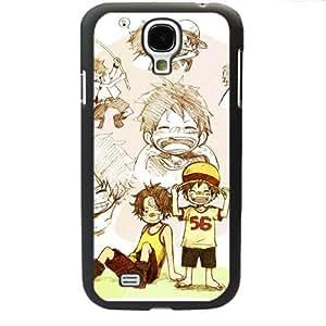 One Piece popular Anime Manga Cartoon Monkey D. Luffy Portgus D. Ace Comic Samsung Galaxy S4 SIV i9500 Soft Black or White case (Black)