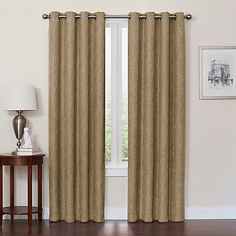 DESIGNSOLUTIONS Quinn 84-Inch Grommet Top Window Curtain Panel (100% Blackout ()