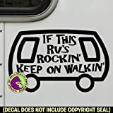 RV ROCKIN' Funny Sign Vinyl Decal Sticker B