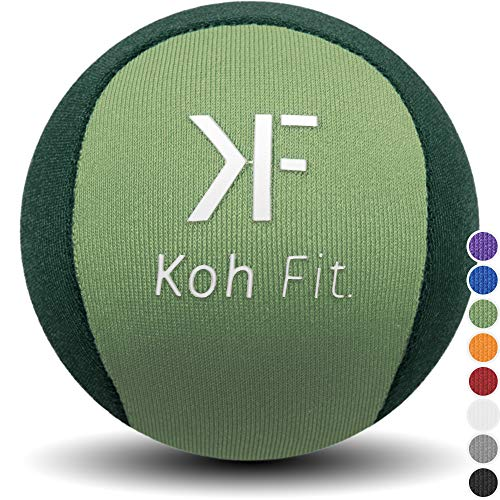Koh Fit Stress Ball for Adults - Stress Reliever Squeeze Balls - Bonus 18-Page Hand Exercise Therapy ()