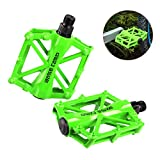 1 Pair / Double Pro Metal Aluminum Alloy Universal Bike Pedals,Light Stable Robust Safe Flat Mountain MTB Bicycle Cycling Sealed Pedals