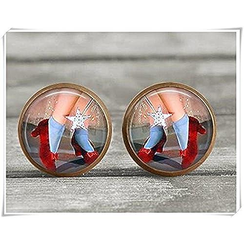 26370e90f3a9 Barato Pendientes – joyas Ruby Zapatillas de bronce de cobre de plata y  bronce – studs