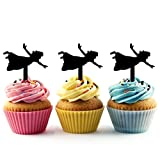 TA0231 Peter Pan Wendy Silhouette Party Wedding Birthday Acrylic Cupcake Toppers Decor 10 pcs