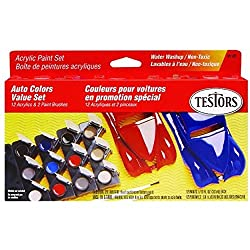Testors 9185 Model Car Acrylic Paint Pot Set from Testors Home