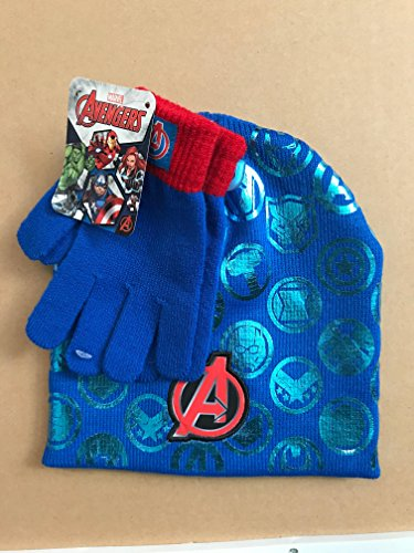 Avengers Team Hat and Gloves Cold Weather Set - Ages 4-10