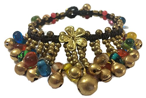 [ฺฺBeautiful Thai Bell Glass Beads Robe Handmade Bracelet (3 cm.x 20 cm.)] (Group Costumes For 3 Guys)