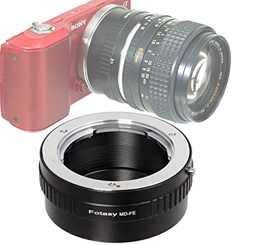 Fotasy Minolta MD Rokkor Lens to Sony E-Mount Adapter, MD to E-Mount, MD Adapter to E Mount, fits Sony NEX-5T NEX-6 NEX-7 a3000 a3500 a5000 a5100 a6000 a6100 a6300 a6400 a6400 a6500 a6600
