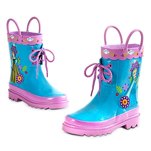 Disney Store Deluxe Frozen Anna Elsa Rain Boots Shoes (9 M US Toddler) White