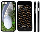 Rikki Knight Golf Ball Tee Close-up Design iPhone 6 Case Cover (Black Rubber with front bumper protection) for Apple iPhone 6 and 6s
