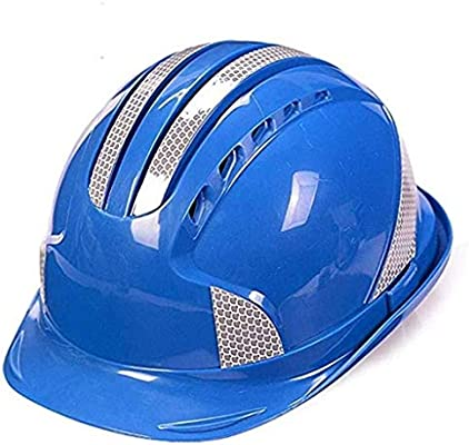 AQMAO Engineering cap ABS Helmet Construction Site Leading Construction Engineering Safety Helmet Anti-smashing Labor Insurance Printing Industrial safety helmet Color : Red