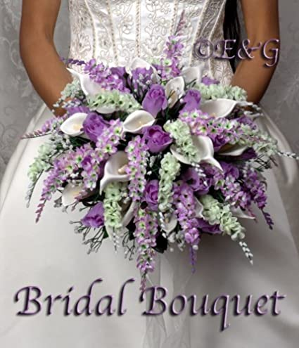 Amazon.com: Wedding bouquet complete package bouquets silk bridal ...