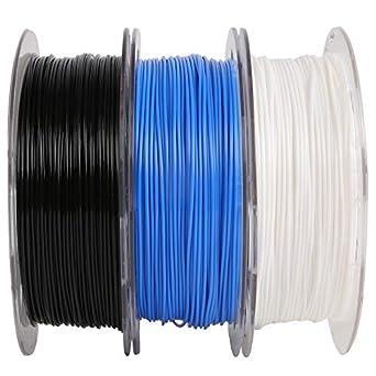 Mika3D - Juego de filamentos PLA de 1,75 mm, 3 bobinas (blanco ...