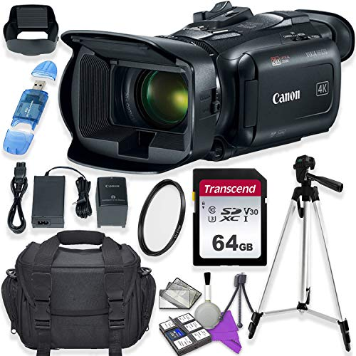 (Canon Vixia HF G50 UHD 4K Camcorder with Starter Accessory Kit Including Padded Gadget Case & 64GB High Speed U3 Memory )