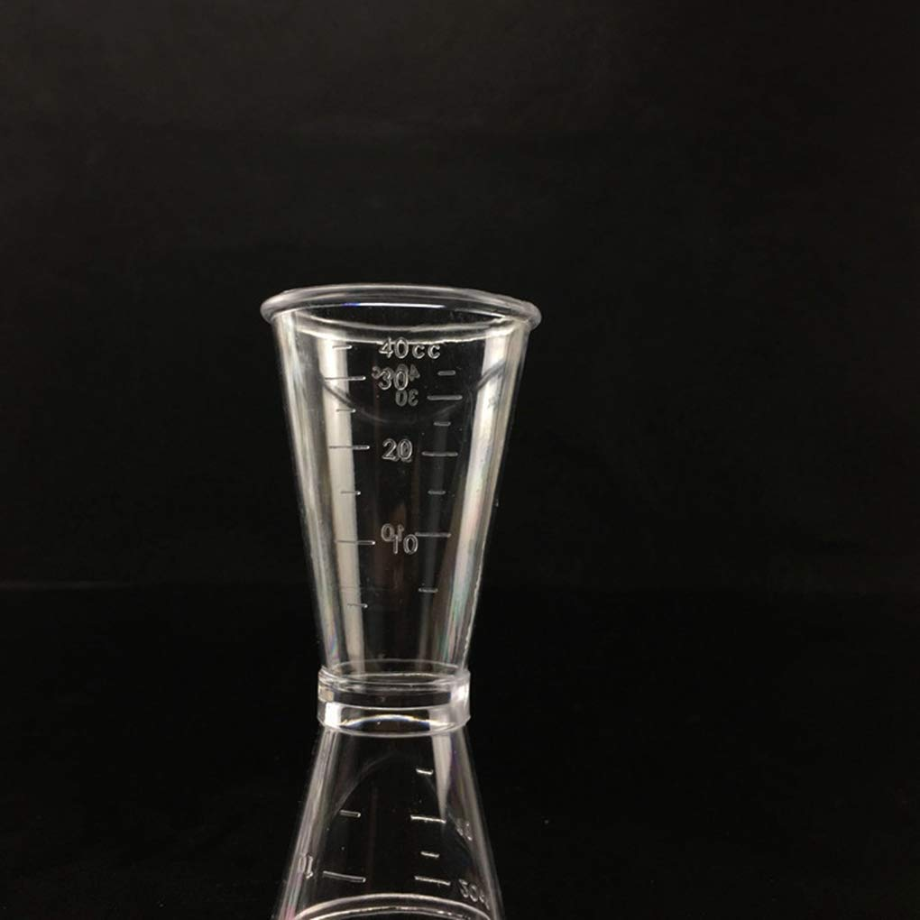 Techting Doppio Netto Jigger Ounce Coppa della Resina di plastica di Latte per t/è e caff/è miscelazione Oz Scala di misurazione Cup Home Bar Applica