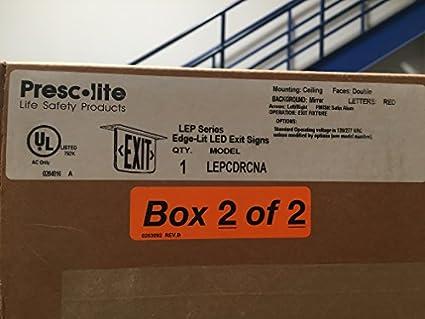 Prescolite Cast Led Emergency Exit Sign E186500
