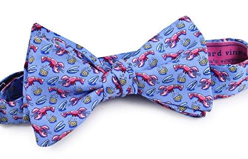 Vineyard Vines Mens Light Blue Lobster & Lemon Colorful Silk Bow Tie Accessory