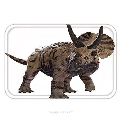 Triceratops Cat Costume (Flannel Microfiber Non-slip Rubber Backing Soft Absorbent Doormat Mat Rug Carpet D Rendering Of Triceratops Horridus 475938157 for Indoor/Outdoor/Bathroom/Kitchen/Workstations)