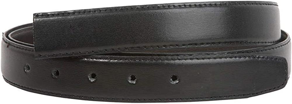 MONIQUE Men Clamp On Double Loop Silver Feather Edged Faux Leat 29mm Belt