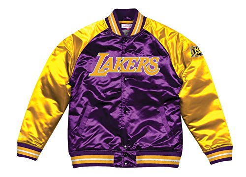 Mitchell & Ness Los Angeles Lakers NBA Tough Season' Retro Satin Jacket Men's - Mitchell Mens Jacket