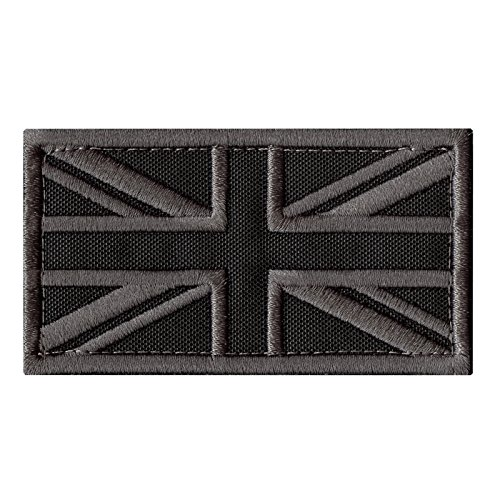 LEGEEON ACU Great Britain UK Union Jack Flag Subdued Morale Tactical Badge Army Embroidery Hook&Loop Patch