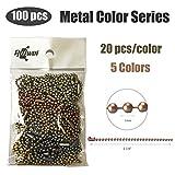 Rojwei 100pcs Metal Ball Chain