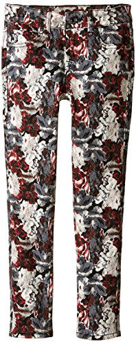 Price comparison product image 7 For All Mankind Big Girls' The Skinny Stretch Denim Jean, Crimson Print, 10