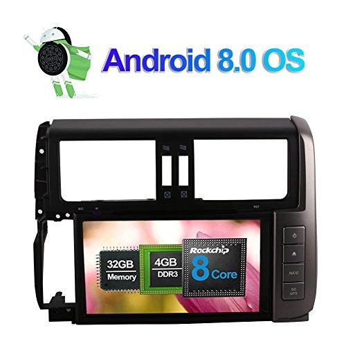- Flynavigo 8 Inch Android 8.0 Octa Core Car Radio Stereo with DVD Player GPS Navigation for Toyota Prado/Prado 150 2010-2013 Support RDS/AM/FM/WIFI/3G/AV output/Bluetooth/1080P Video