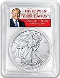 #7: 2018 - 1oz Silver Eagle - First Strike - Donald Trump Label Dollar MS70 PCGS