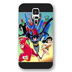 UniqueBox Justice League Custom Phone Case for Samsung Galaxy S5, DC comics Justice League Customized Samsung Galaxy S5 Case, Only Fit for Samsung Galaxy S5 (Black Frosted Shell)