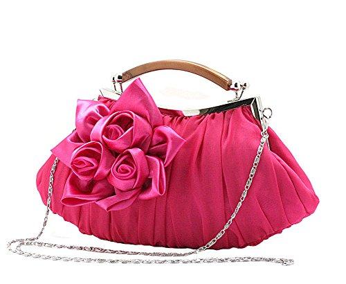 Chiffon Floral Handbag - 5