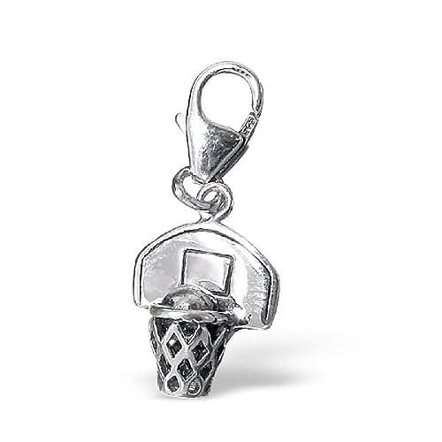 So Chic Joyas - Colgante Charm baloncesto Plata 925: Amazon.es ...
